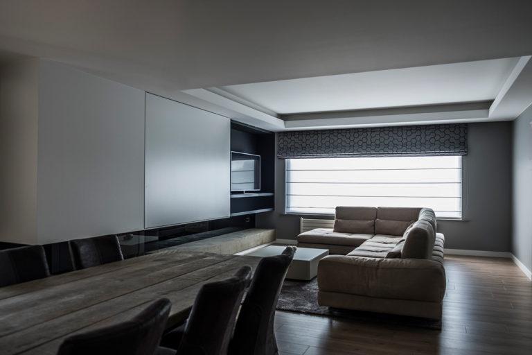 inrichting woonkamer tot in het kleinste detail